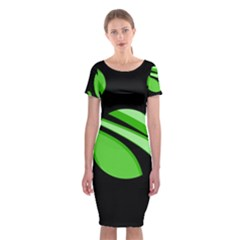 Green Balls   Classic Short Sleeve Midi Dress