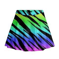 Rainbow Tiger Mini Flare Skirt