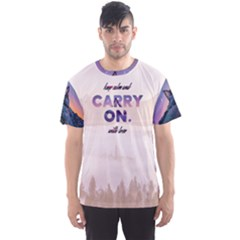 Keep Calm And Carry On Men s Sport Mesh Tee