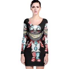 Super Secret Clown Business Ii  Long Sleeve Velvet Bodycon Dress