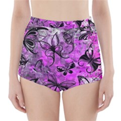 Butterfly Graffiti High-Waisted Bikini Bottoms