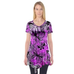Butterfly Graffiti Short Sleeve Tunic