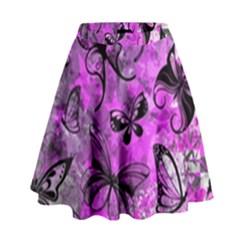 Butterfly Graffiti High Waist Skirt