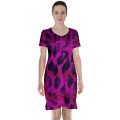Pink Leopard Short Sleeve Nightdress