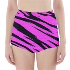 Pink Tiger High-Waisted Bikini Bottoms