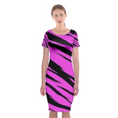 Pink Tiger Classic Short Sleeve Midi Dress