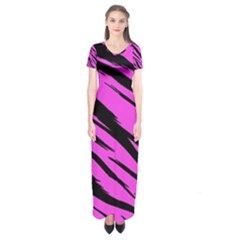 Pink Tiger Short Sleeve Maxi Dress