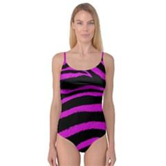 Pink Zebra Camisole Leotard