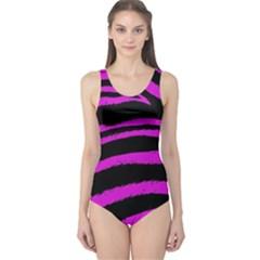Pink Zebra One Piece Swimsuit