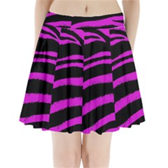 Pink Zebra Pleated Mini Mesh Skirt