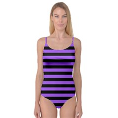 Purple Stripes Camisole Leotard