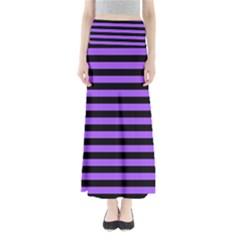 Purple Stripes Maxi Skirts