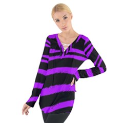 Purple Zebra Women s Tie Up Tee