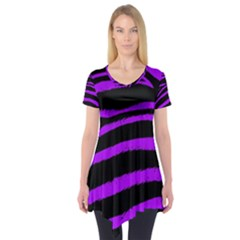 Purple Zebra Short Sleeve Tunic