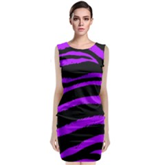 Purple Zebra Classic Sleeveless Midi Dress