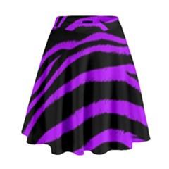 Purple Zebra High Waist Skirt