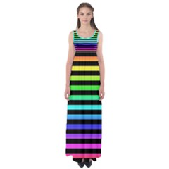 Rainbow Stripes Empire Waist Maxi Dress