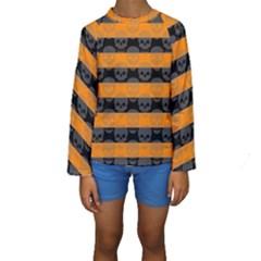 Deathrock Stripes Kid s Long Sleeve Swimwear