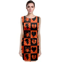 Goth Punk Checkers Classic Sleeveless Midi Dress