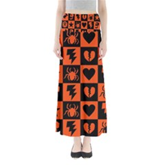 Goth Punk Checkers Maxi Skirts