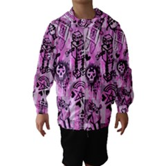 Pink Scene Kid Sketches Hooded Wind Breaker (kids)