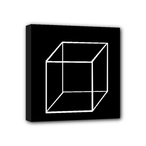 Simple Cube Mini Canvas 4  x 4