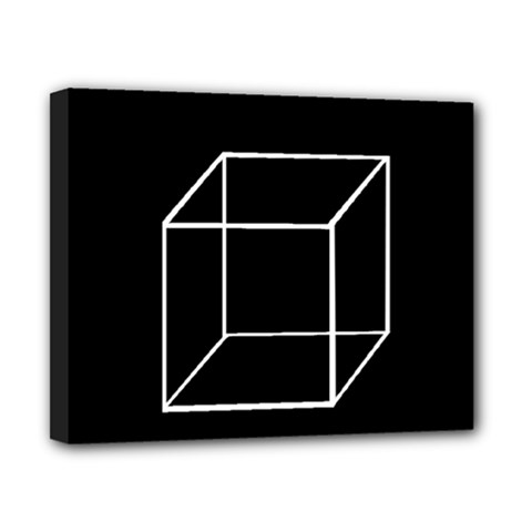 Simple Cube Canvas 10  x 8