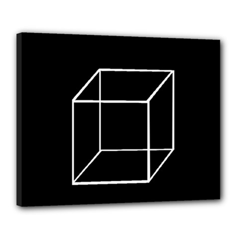 Simple Cube Canvas 20  x 16