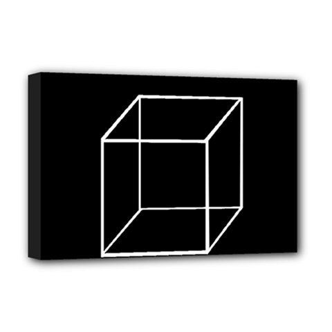 Simple Cube Deluxe Canvas 18  x 12