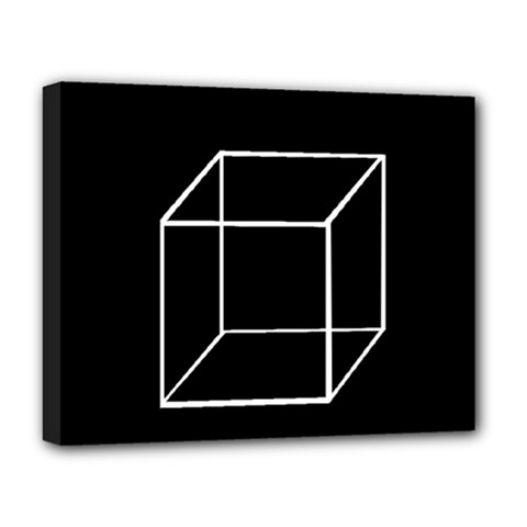 Simple Cube Deluxe Canvas 20  x 16
