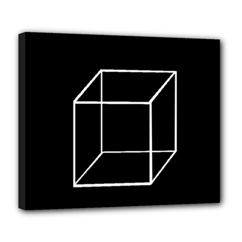 Simple Cube Deluxe Canvas 24  x 20