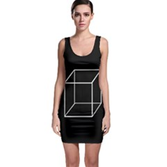 Simple Cube Sleeveless Bodycon Dress