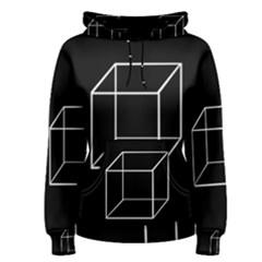 Simple Cube Women s Pullover Hoodie