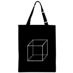 Simple Cube Zipper Classic Tote Bag