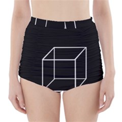 Simple Cube High-Waisted Bikini Bottoms