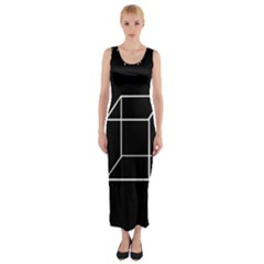 Simple Cube Fitted Maxi Dress