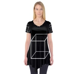 Simple Cube Short Sleeve Tunic