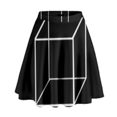 Simple Cube High Waist Skirt