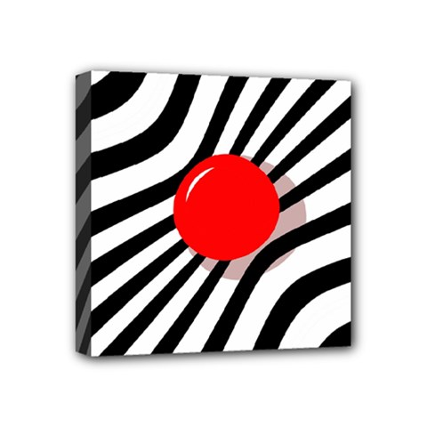 Abstract red ball Mini Canvas 4  x 4
