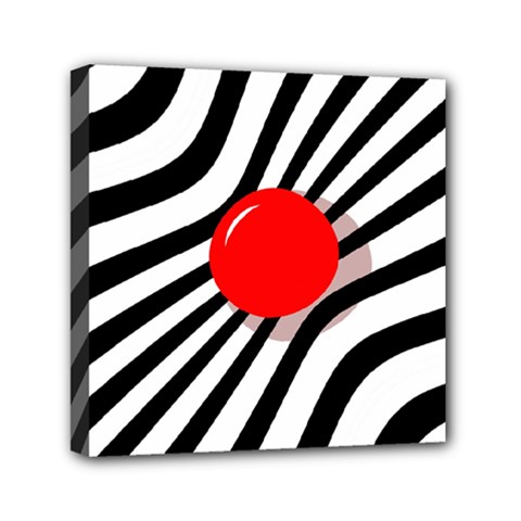 Abstract red ball Mini Canvas 6  x 6