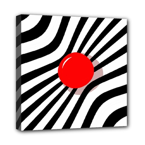 Abstract red ball Mini Canvas 8  x 8