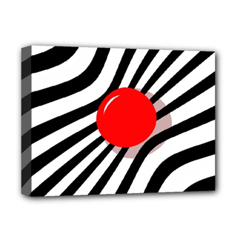 Abstract red ball Deluxe Canvas 16  x 12