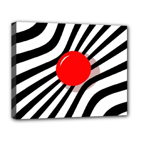 Abstract red ball Deluxe Canvas 20  x 16