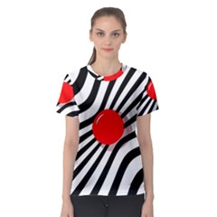 Abstract red ball Women s Sport Mesh Tee