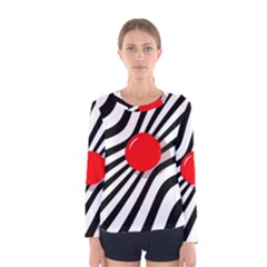 Abstract red ball Women s Long Sleeve Tee