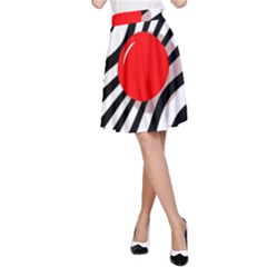 Abstract red ball A-Line Skirt