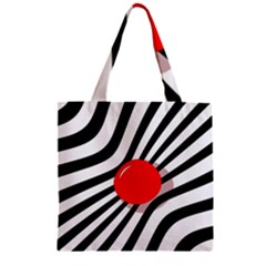 Abstract red ball Zipper Grocery Tote Bag