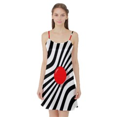 Abstract red ball Satin Night Slip