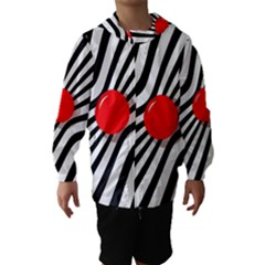 Abstract Red Ball Hooded Wind Breaker (kids)