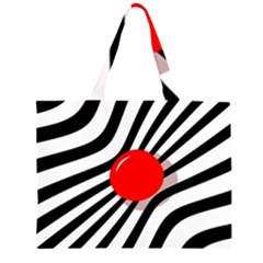 Abstract red ball Large Tote Bag